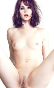 Felicity Jones full frontal naked spread legs nude HQ